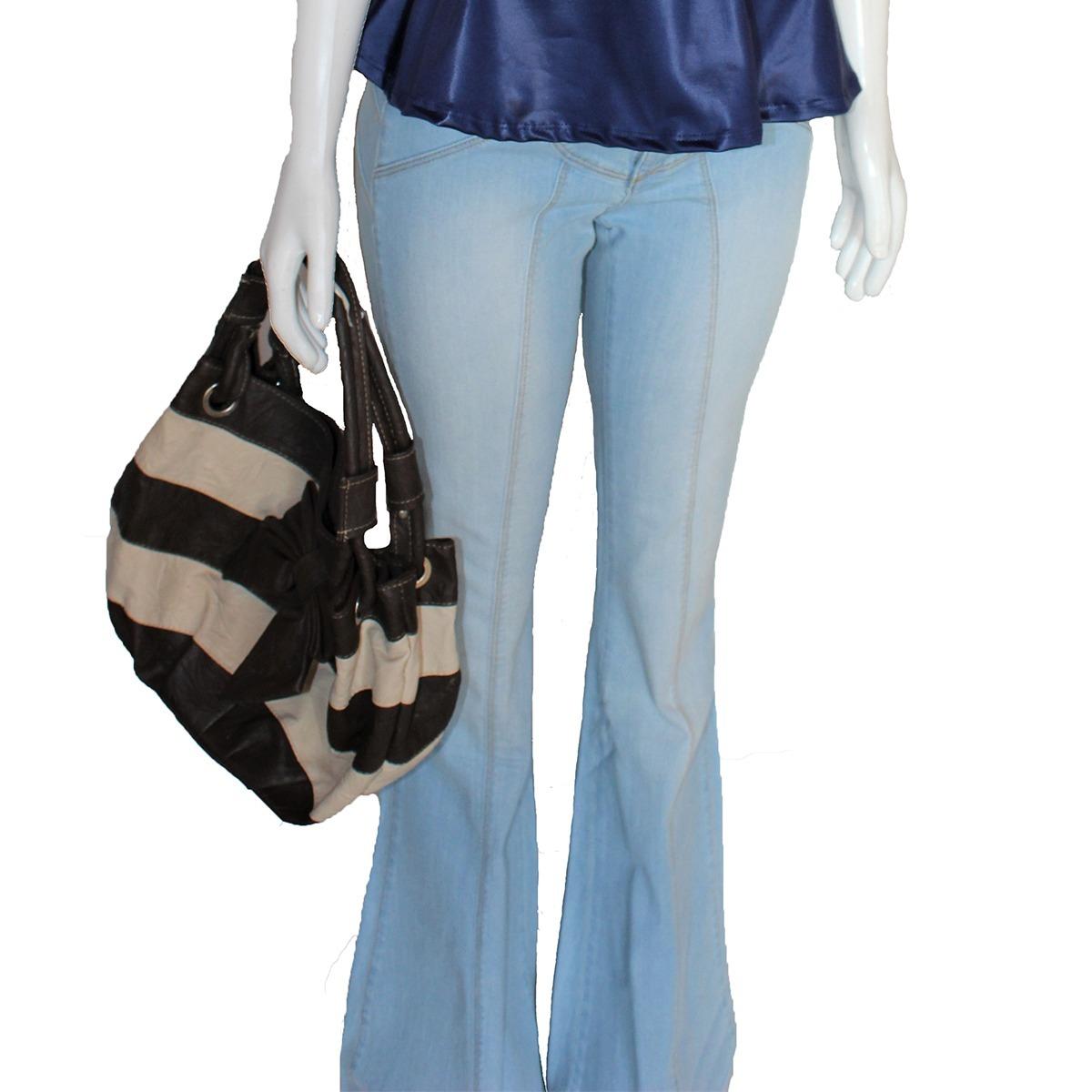 3b916f8ec calça jeans feminina flare boca de sino cintura alta linda. Carregando zoom.