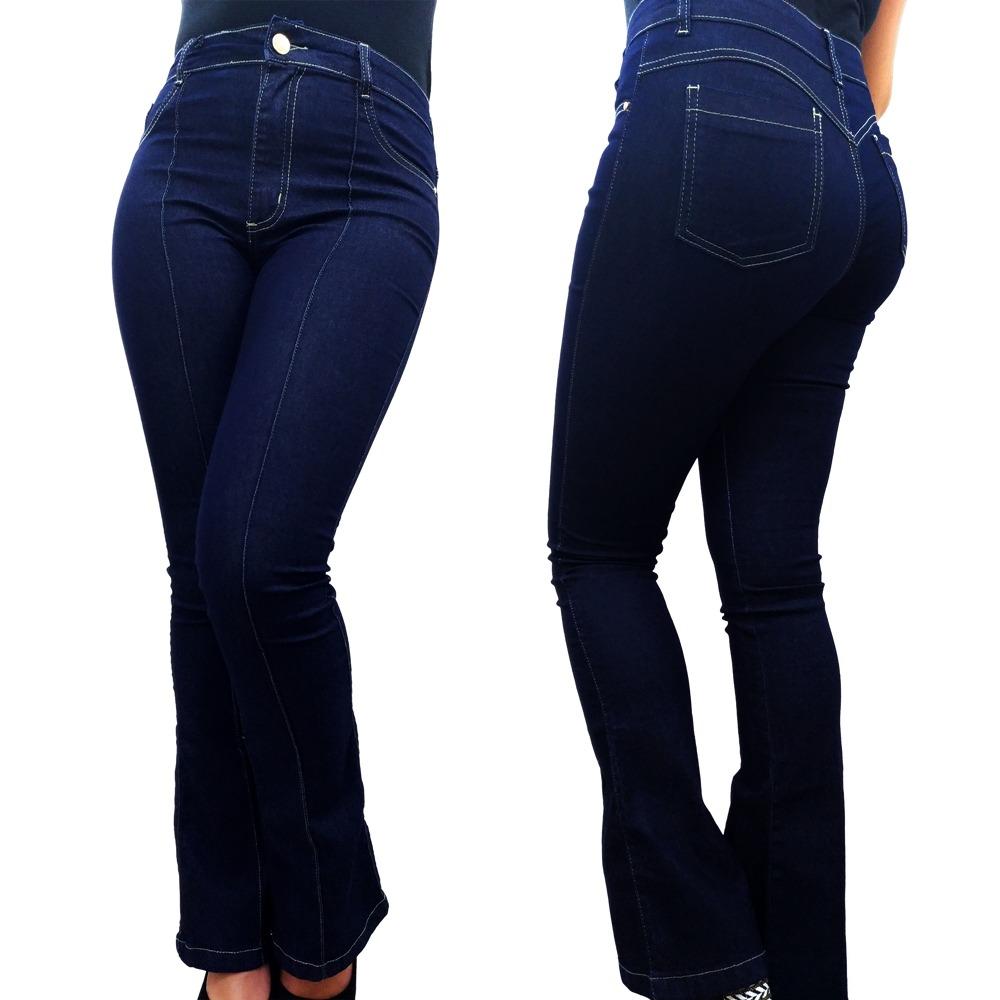 a5a1f782f calca jeans feminina flare boca de sino cintura alta linda. Carregando zoom.