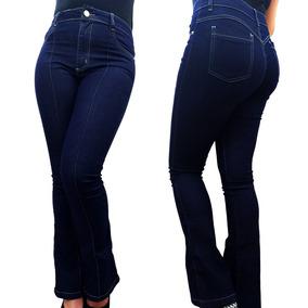 f8cf206db5 Calca Jeans Feminina Flare Boca De Sino Cintura Alta Linda