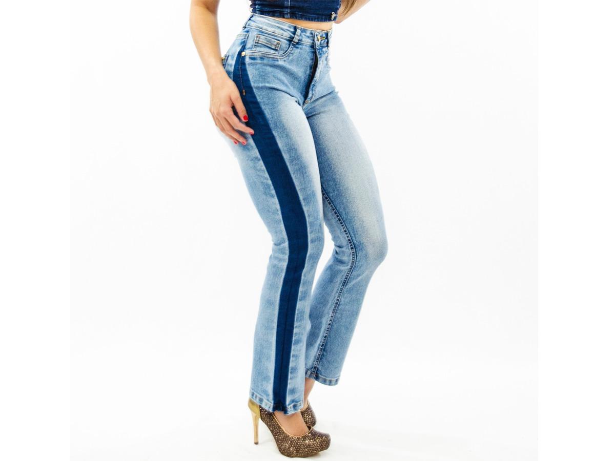 a93591f60 calça jeans feminina flare boot cut cintura alta boca sino. Carregando zoom.