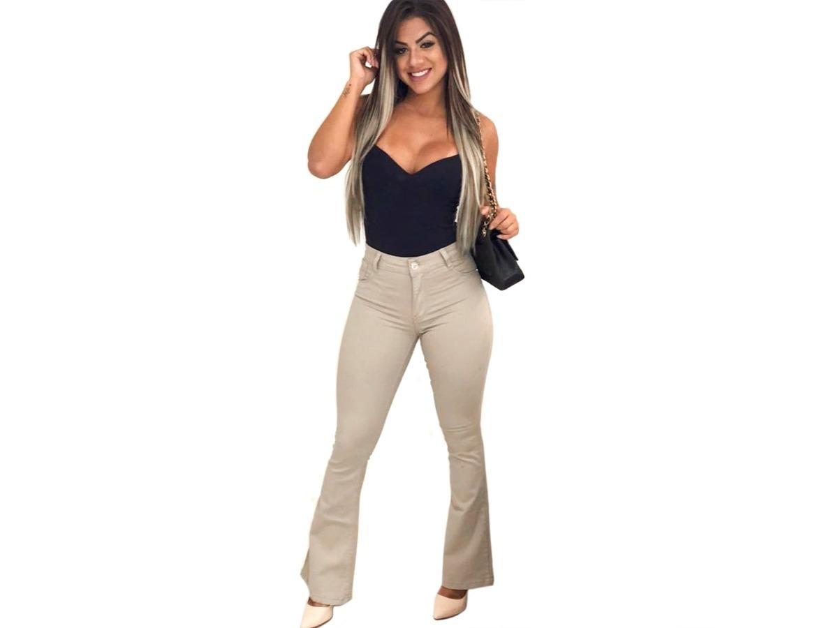 7baaecb79 calça jeans feminina flare cintura alta hot pants promoção. Carregando zoom.