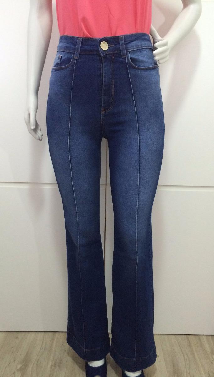 1eb4bb10c calça jeans feminina flare cintura alta roupa feminina. Carregando zoom.