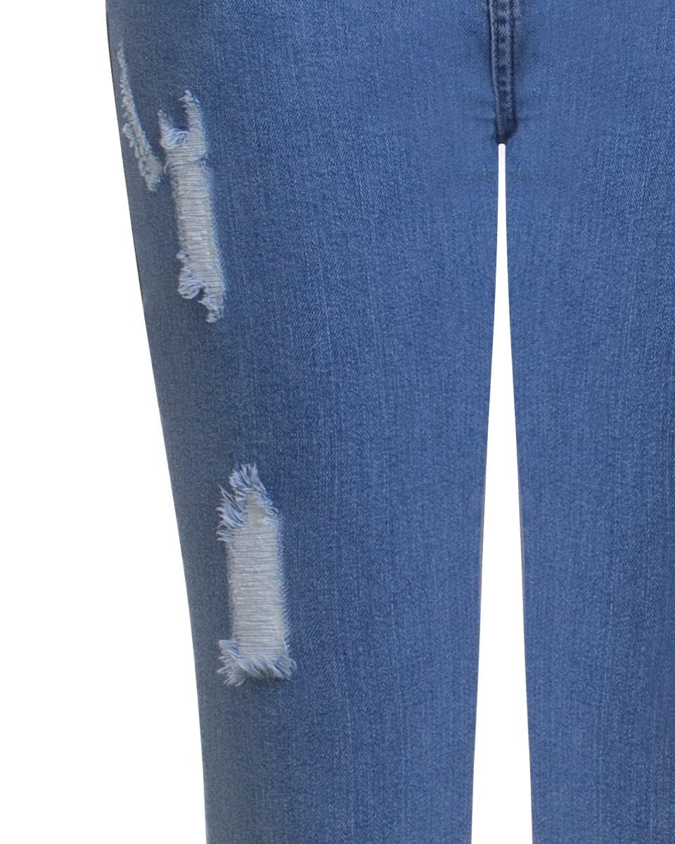 8ebc180d4 calça jeans feminina flare destroyed com barra desfiada seik. Carregando  zoom.
