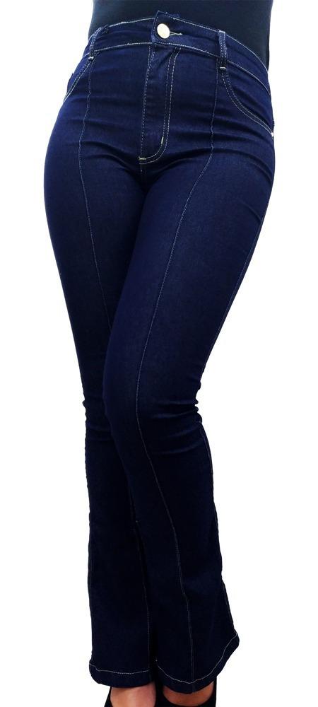 1121cc03c calça jeans feminina flare hot pant cintura alta modeladora. Carregando  zoom.