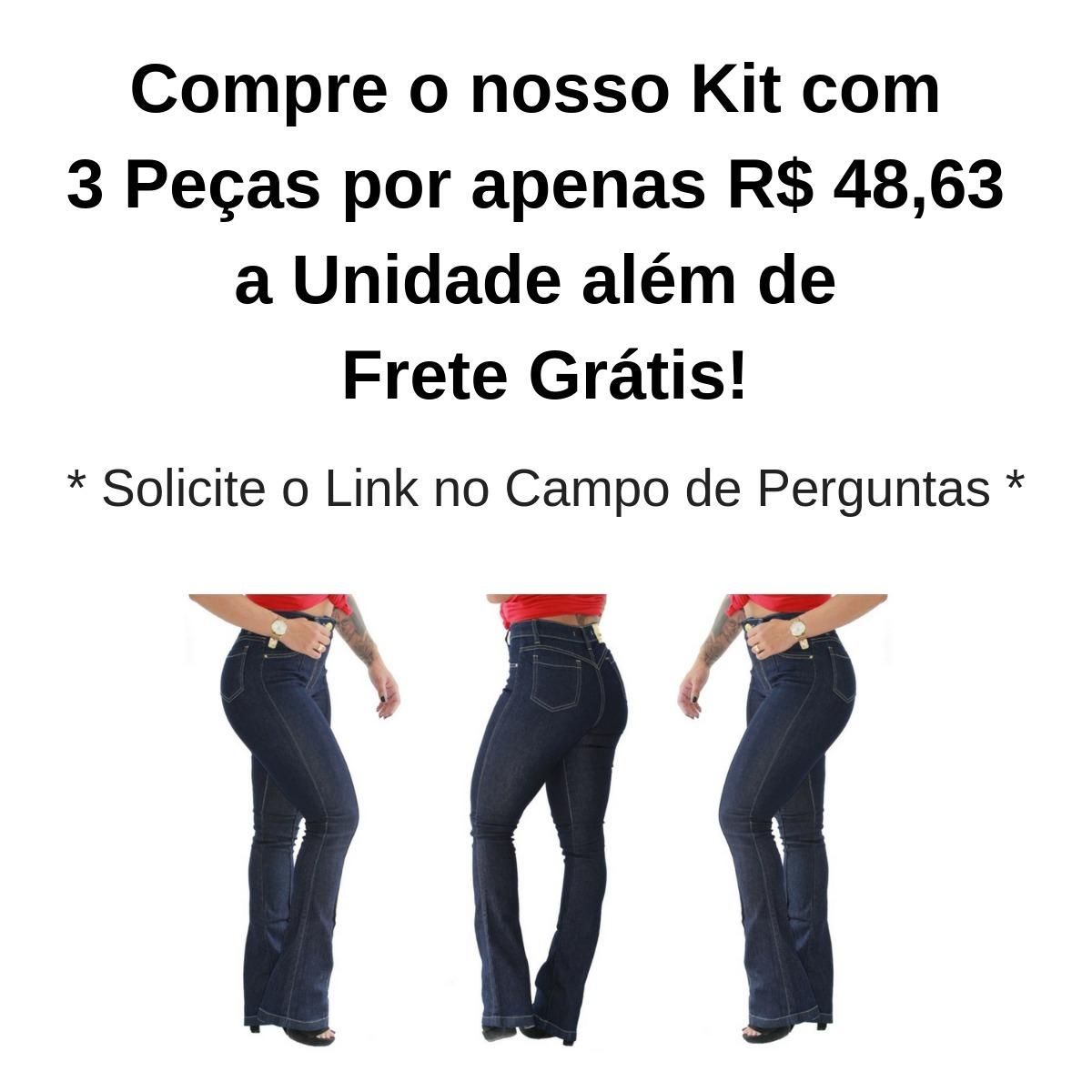 81bb9e032c9ce calça jeans feminina flare skinny cintura alta blog + brinde. Carregando  zoom.
