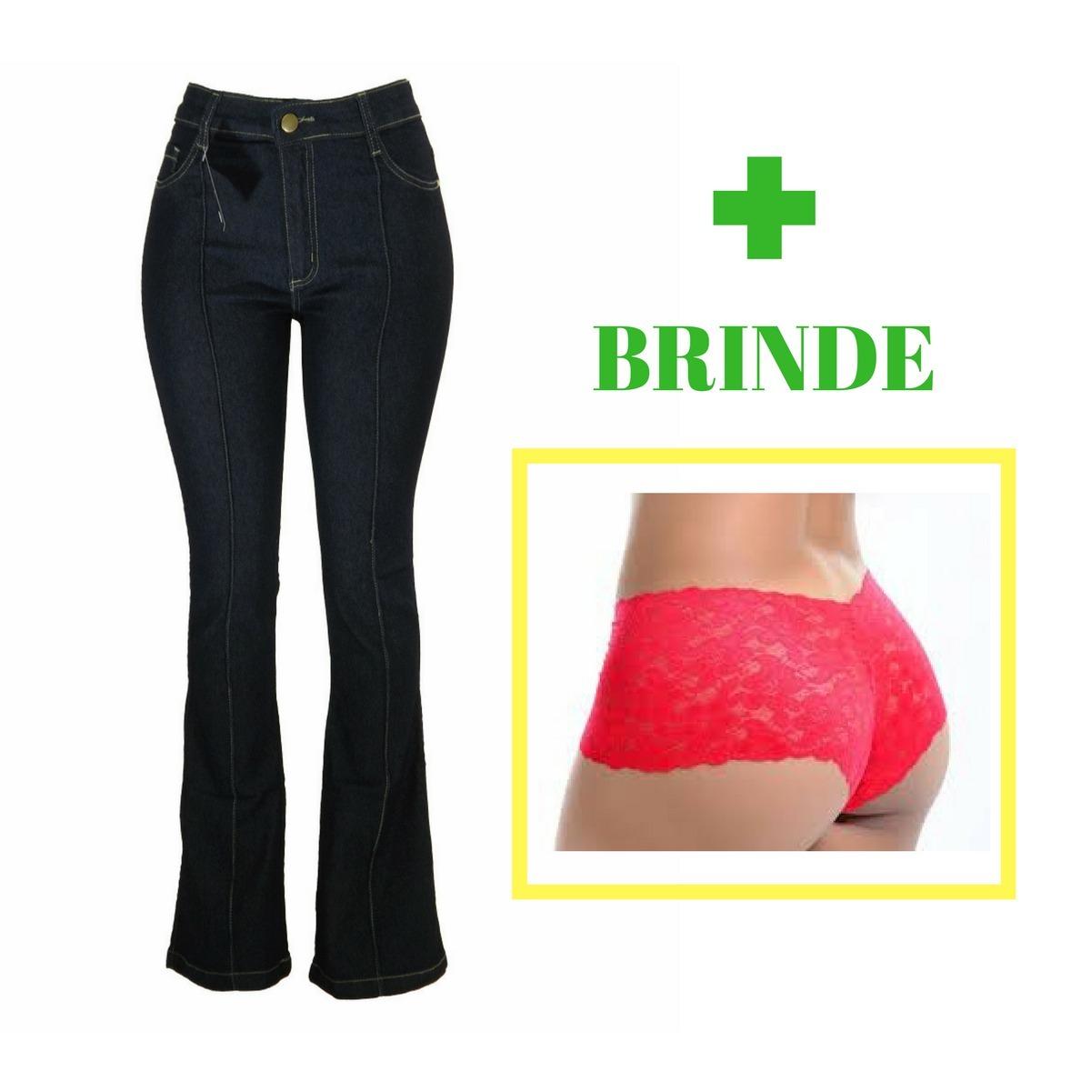 01e213a20 calça jeans feminina flare skinny cós alto tamanho 36 brinde. Carregando  zoom.