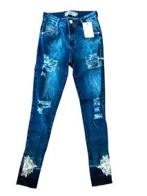 2018fba1e Calça Jeans Perolas - Calças no Mercado Livre Brasil