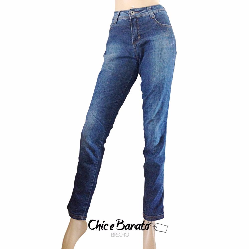 9d37a24d4a calça jeans feminina hering estilo reta c  stretch - tam 38. Carregando  zoom.