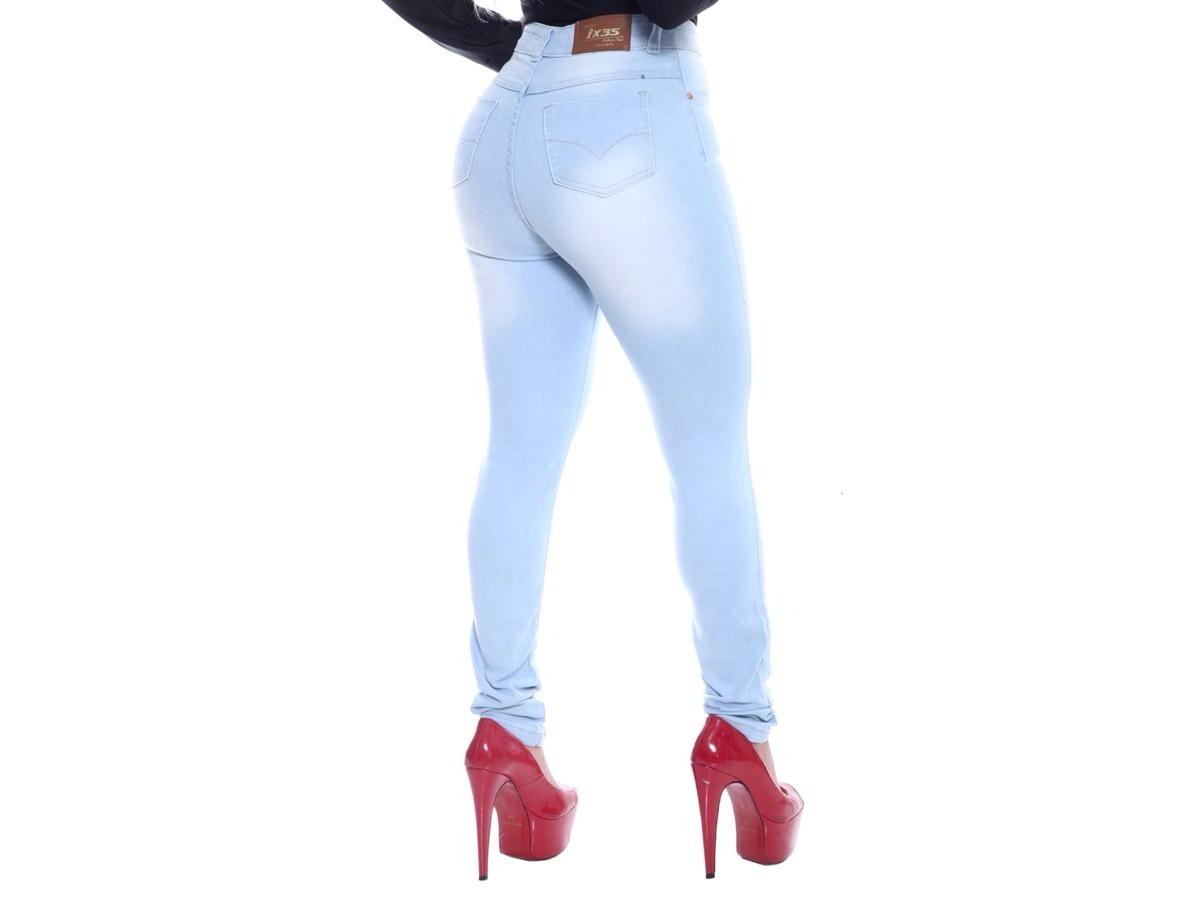 dc764e9bd calça jeans feminina hot pants cintura alta com lycra. Carregando zoom.