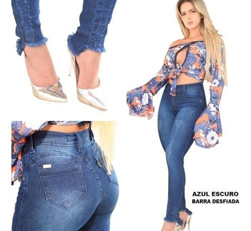 calça jeans feminina hotpants cintura alta lycra branca top