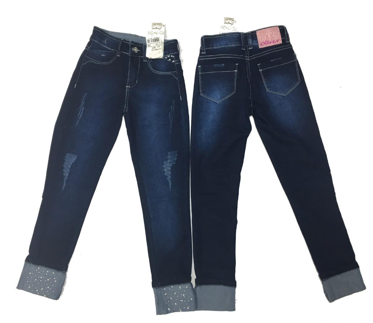 81f9c0c43 Calça Jeans Feminina Juvenil Com Strass E Perolas Ref:2674 - R$ 44 ...