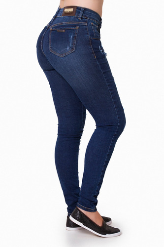 calça jeans feminina kanibus cigarrete skinny lycra ref18020