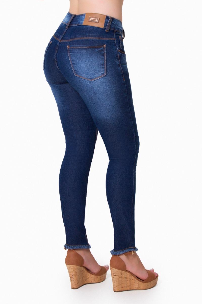 3c8cdfd7bbd Calça Jeans Feminina Kanibus Com Detalhe Na Barra Ref.18018