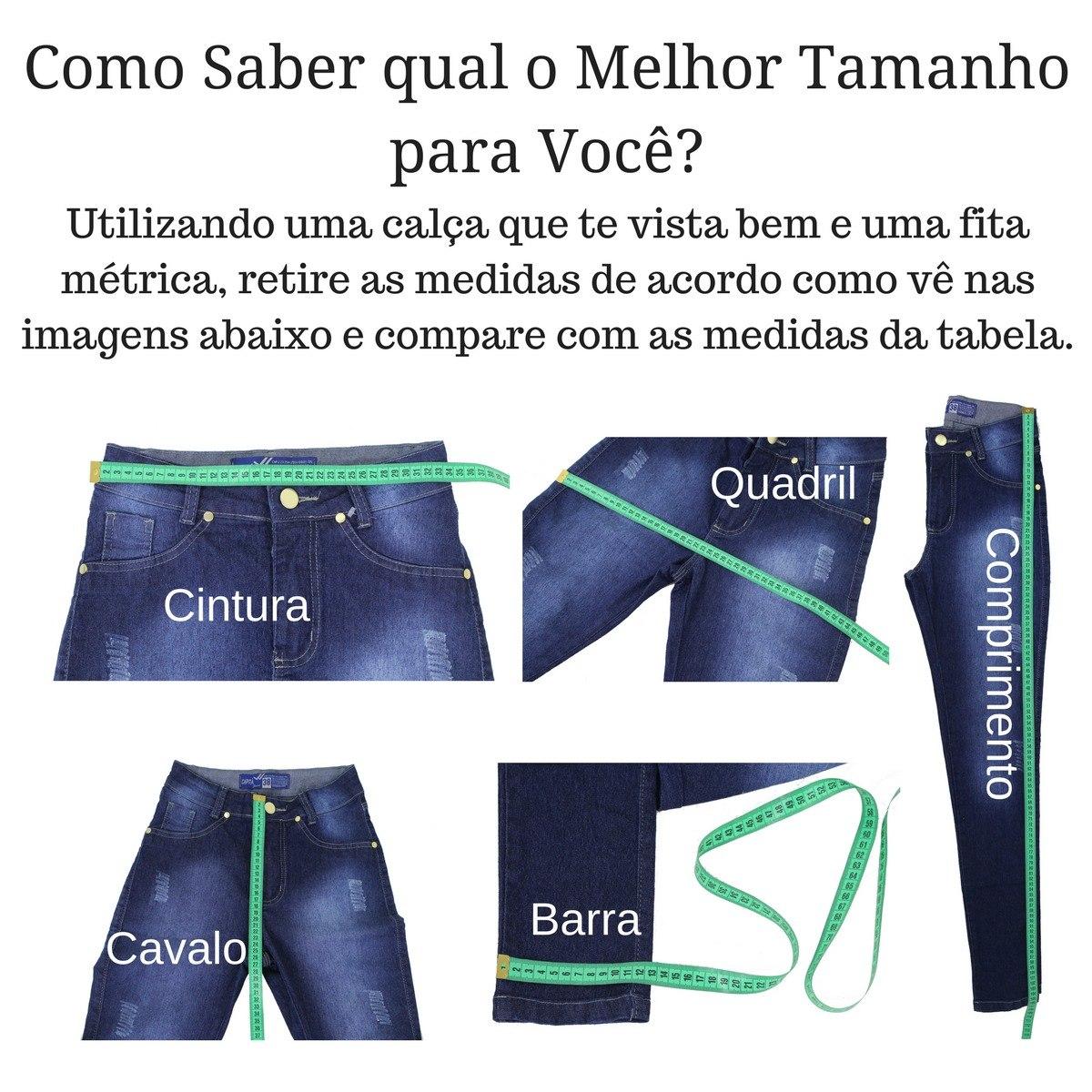 94a2ca7ad634e Calça Jeans Feminina Kit Com 3 - Vários Modelos Frete Grátis - R ...