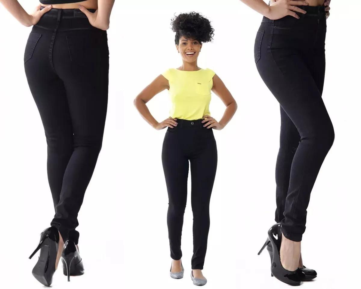 555d37f89f calça jeans feminina legging super lipo   cor preta   sawary. Carregando  zoom.