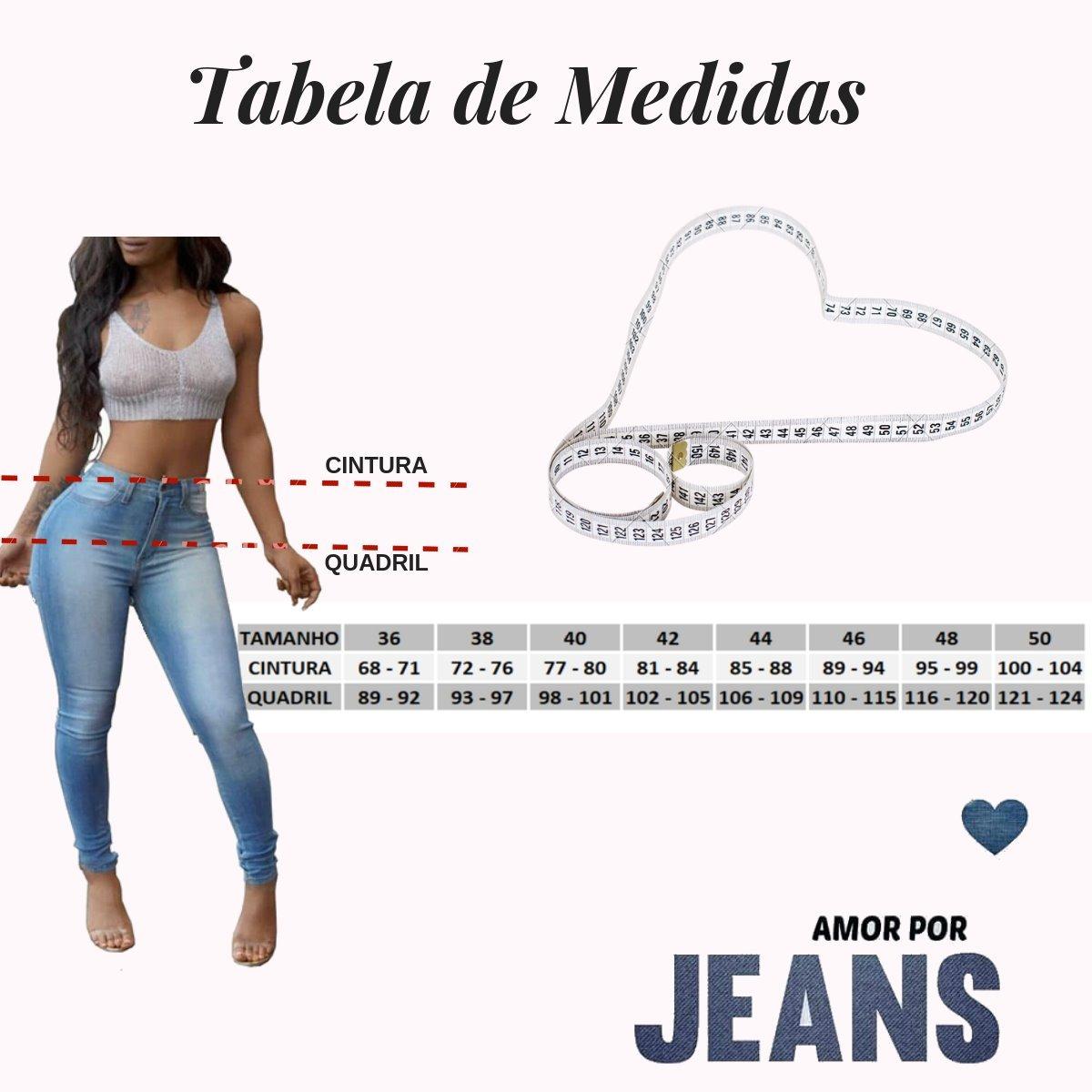 3b3dcb76ec Calça Jeans Feminina Levanta Bumbum Cintura Alta Lycra Dins - R  90 ...