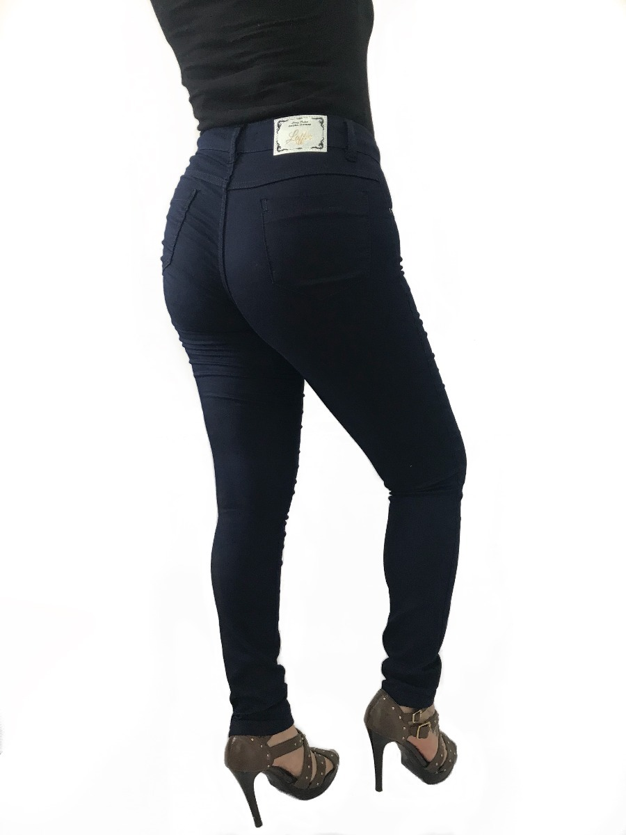 9a5059e92 calça jeans feminina lisa skinny slim com lycra cintura alta. Carregando  zoom.