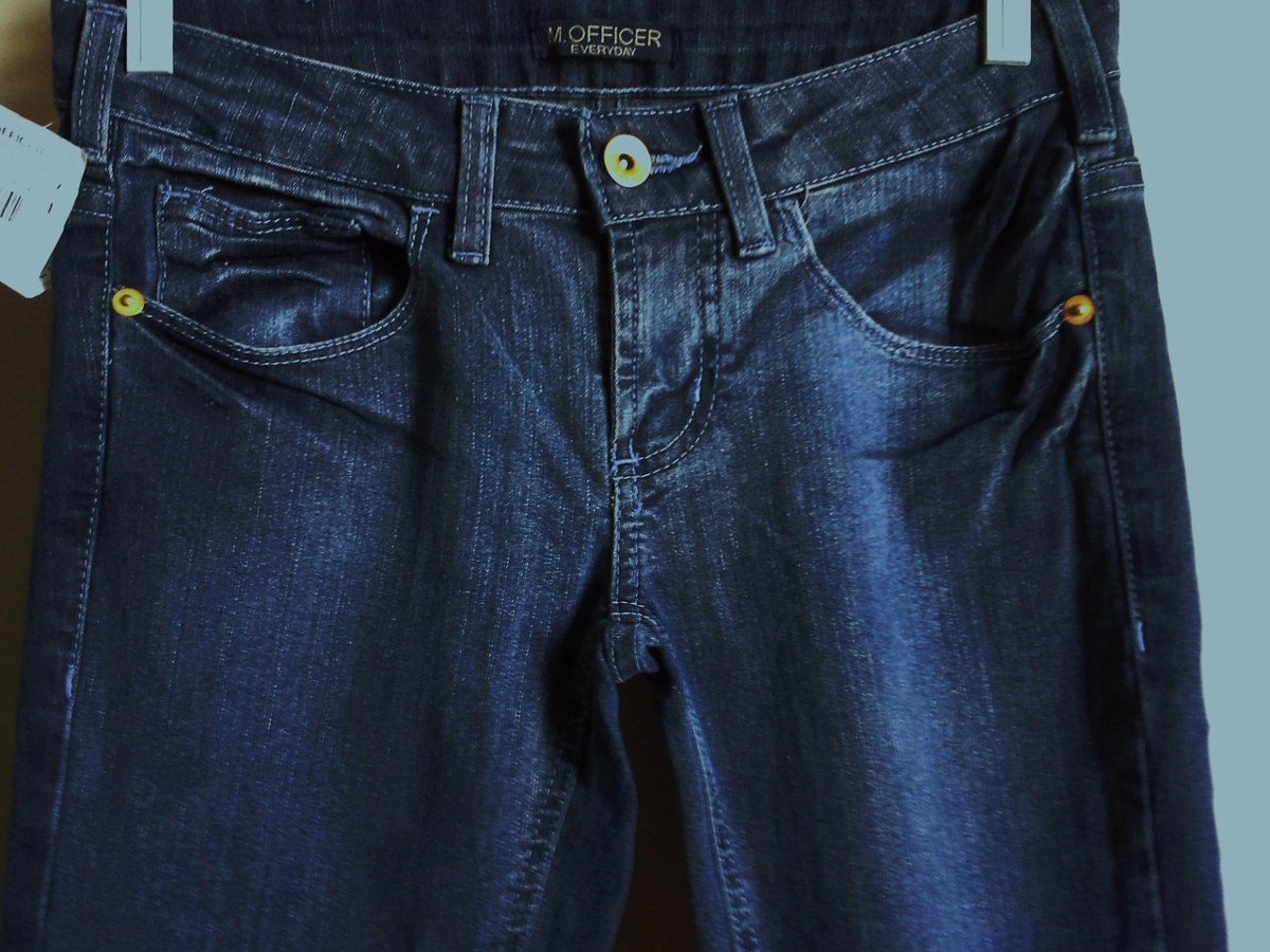 97399054b calça jeans feminina m. officer -modelo strech fashion tm 34. Carregando  zoom.