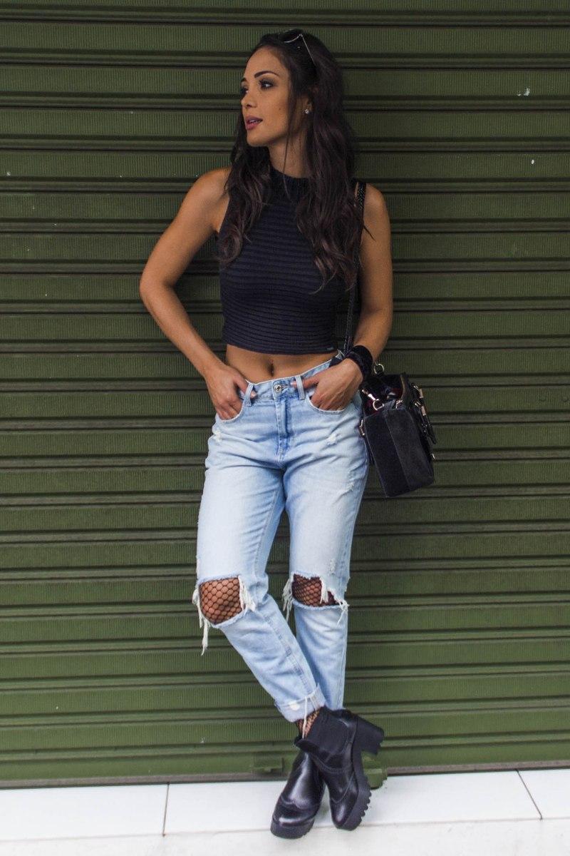 25b768d69c197 calça jeans feminina mom alta detonada denim zero - dz2447. Carregando zoom.