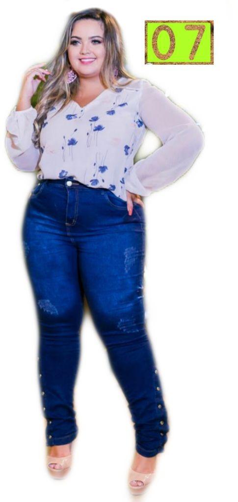 1e9d61e26 calça jeans feminina plus size lycra frete gratis ref 20. Carregando zoom.