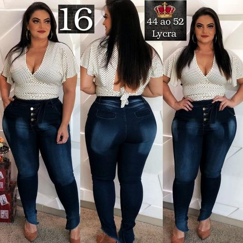 calça jeans feminina plus size moda grande gg look ref. 16
