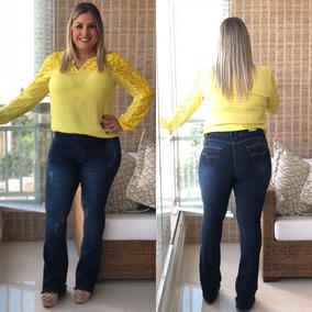 78293d3cb Calça Branca Plus Size - Calçados, Roupas e Bolsas no Mercado Livre Brasil