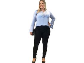 a6684a8e5 Calça Jeans Detonada Rasgada Plus Size - Calçados, Roupas e Bolsas no  Mercado Livre Brasil