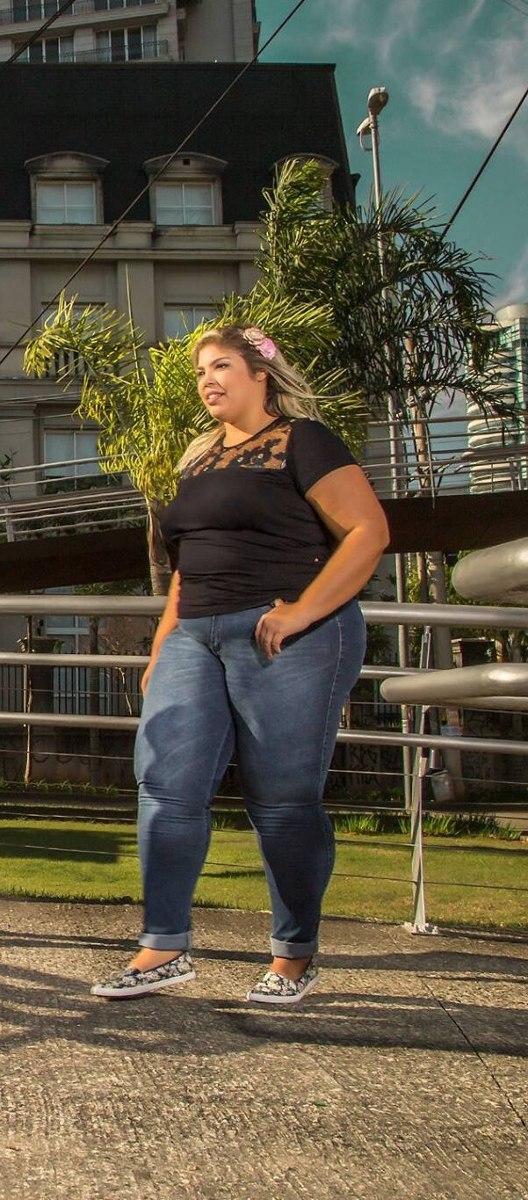 5264b4fb3 calça jeans feminina plus size tamanho grande com lycra. Carregando zoom.