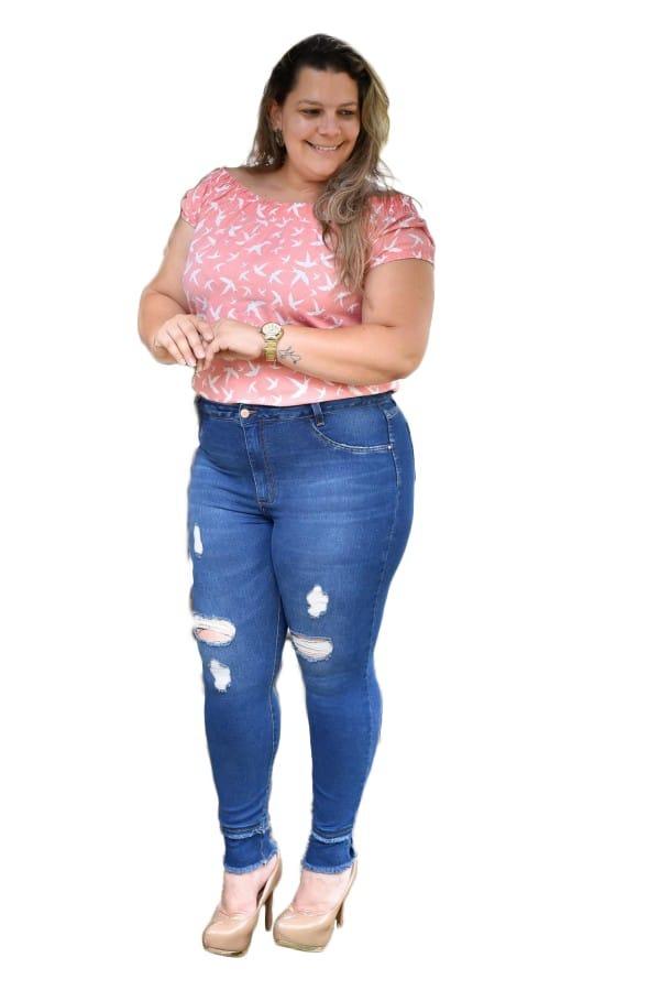 641da3271 calça jeans feminina plus size tamanhos grandes com lycra! Carregando zoom.