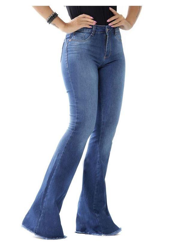 caedb9bd93ddb calca jeans feminina promoção skinny e flare cintura alta. Carregando zoom.