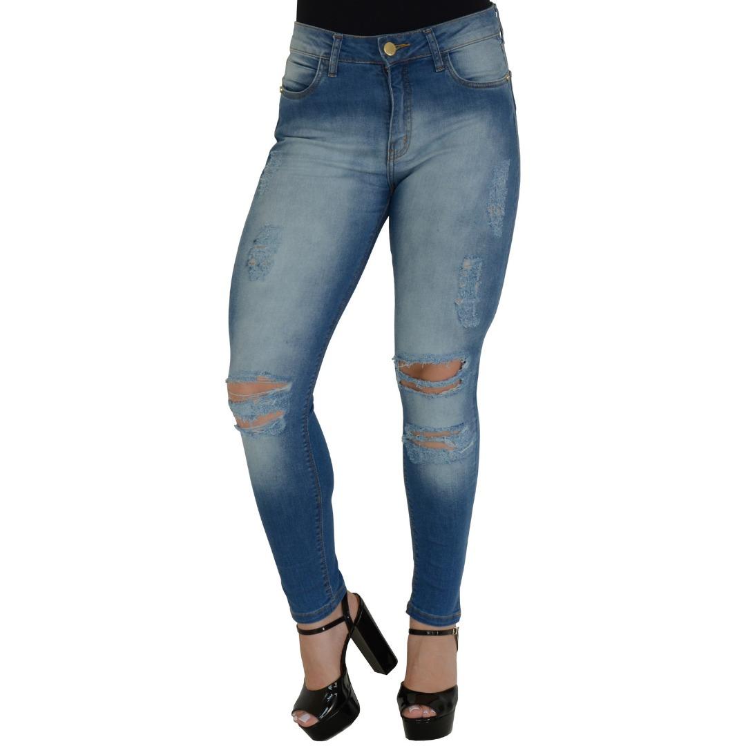 7c000a8b8 calça jeans feminina rasgada destroyed lavagem barra moda 19. Carregando  zoom.