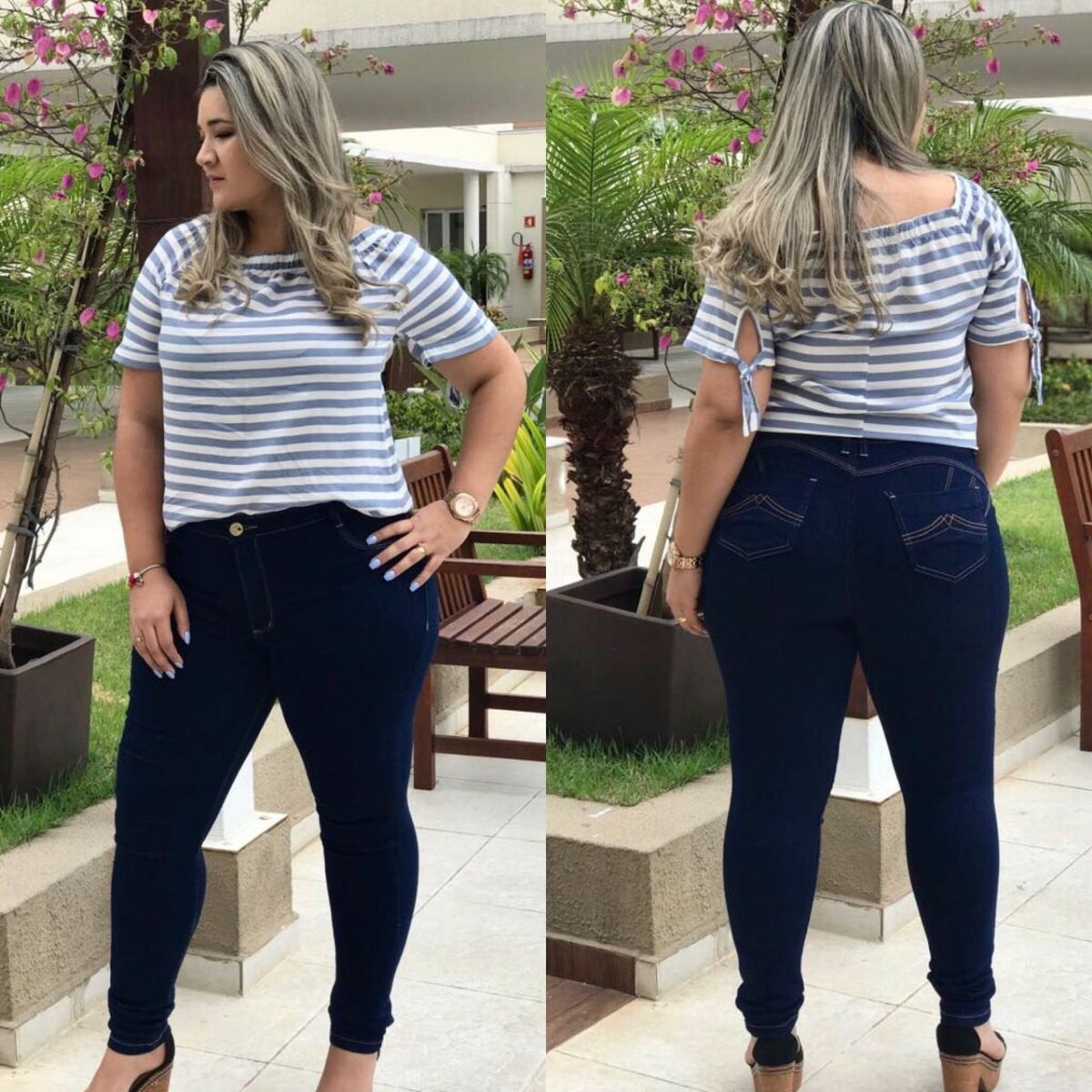 8036d1fb5 calça jeans feminina rasgada plus size elastano e lycra. Carregando zoom.