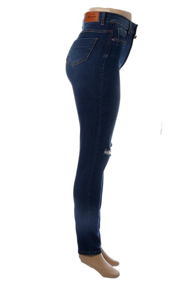 6108aab01 calça jeans feminina rasgada super lipo cintura alta sawary. Carregando  zoom.