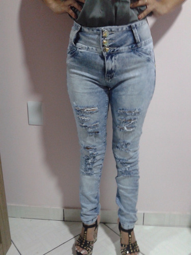 calça jeans feminina santa pimenta