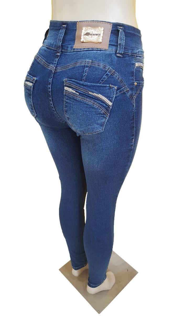 0ae4728ec Calça Jeans Feminina Sawary Bojo Removível - R$ 129,00 em Mercado Livre