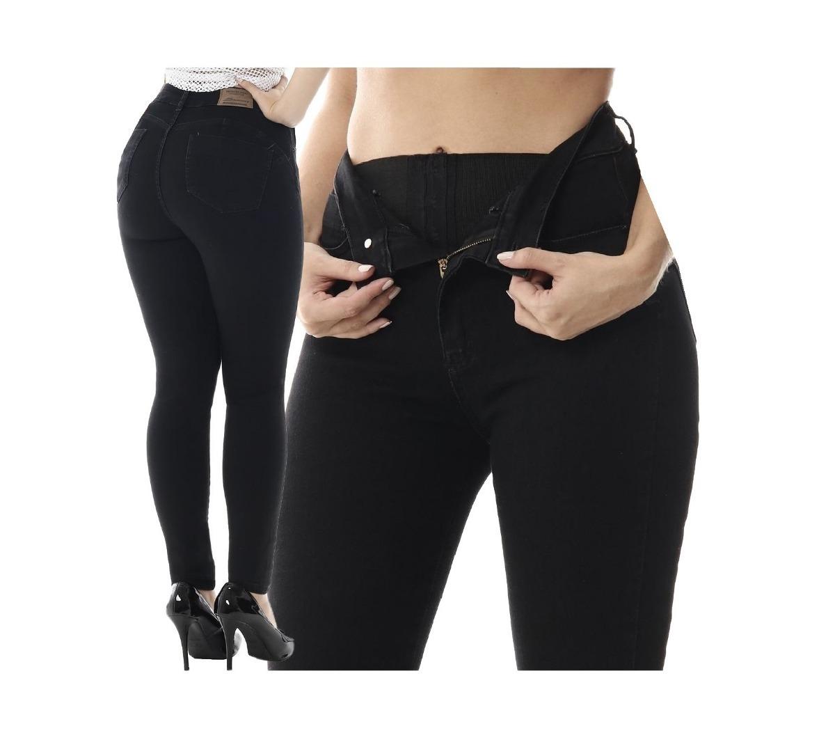 9e4602baa calça jeans feminina sawary sculp com cinta e bojo removível. Carregando  zoom.