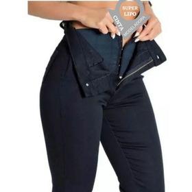 Calça Jeans Feminina Sawary Super Lipo C/cinta Compressora