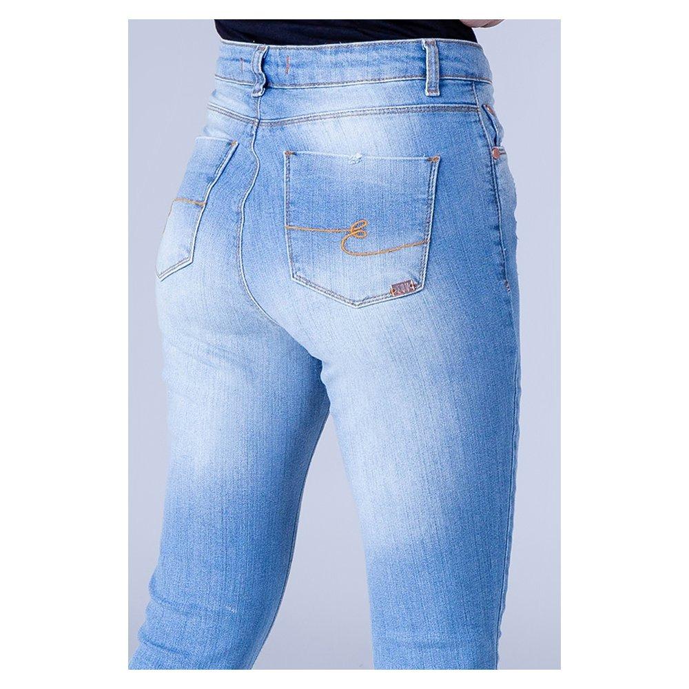 a953152f2 calça jeans feminina skinny cintura alta equivoco kyara. Carregando zoom.