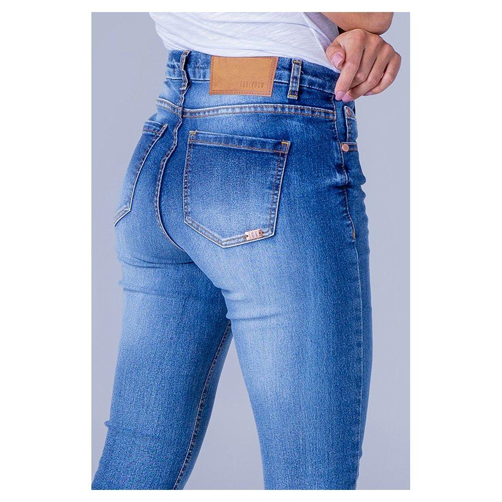 4e061e0bb calça jeans feminina skinny cintura alta equivococalça j... Carregando zoom.