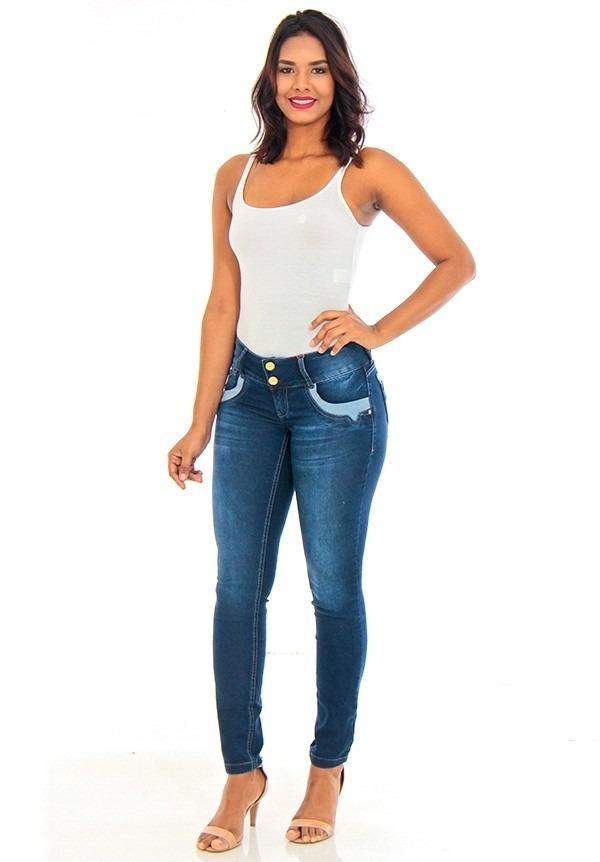 8e8be3b0a calça jeans feminina skinny cintura média handara -1754613. Carregando zoom.
