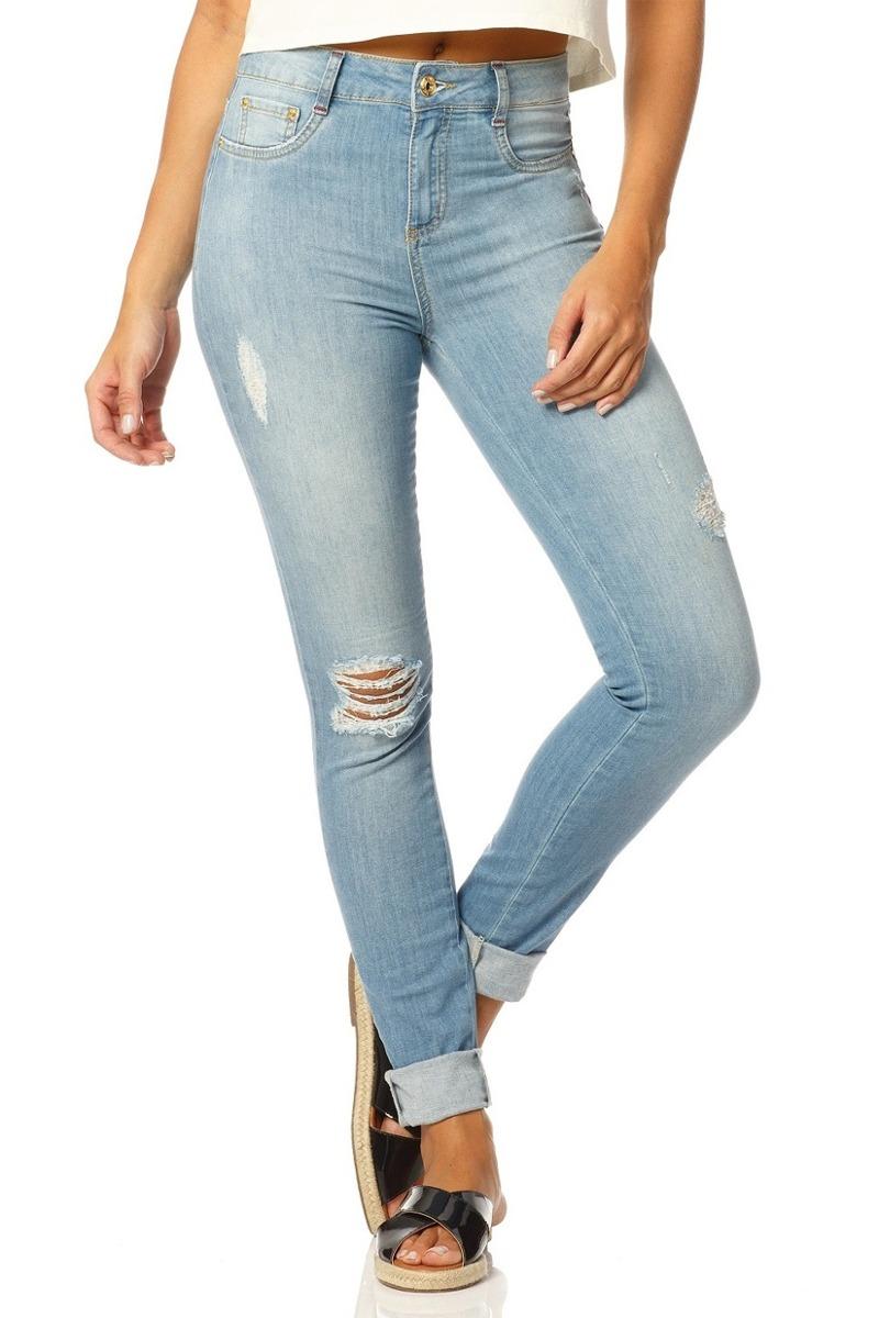 537936b046 calça jeans feminina skinny clara sobreposto-sp2365. Carregando zoom.