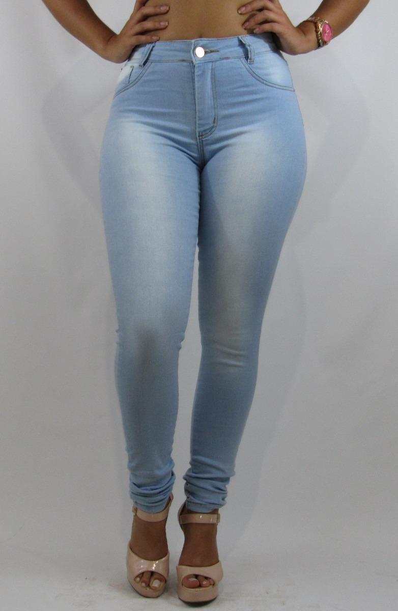ee94f6a28 Calça Jeans Feminina Skinny Delave Cintura Média Clara(2179) - R$ 49 ...