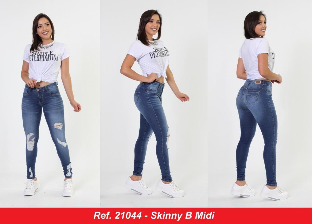 85f04d44a calça jeans feminina skinny lançamento biotipo original top. Carregando zoom .