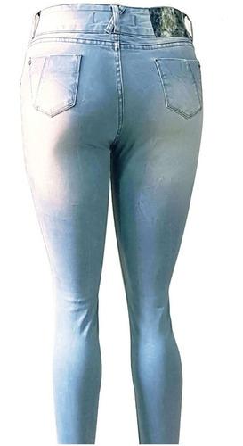 calça jeans feminina skinny lavagem clara mary anthony 1426