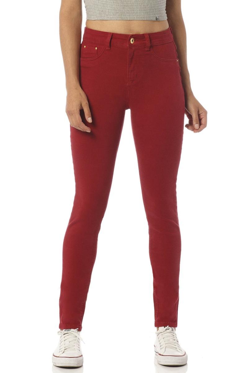calça jeans feminina skinny média colorida denim zero-dz2391. Carregando  zoom. 28322e823d7
