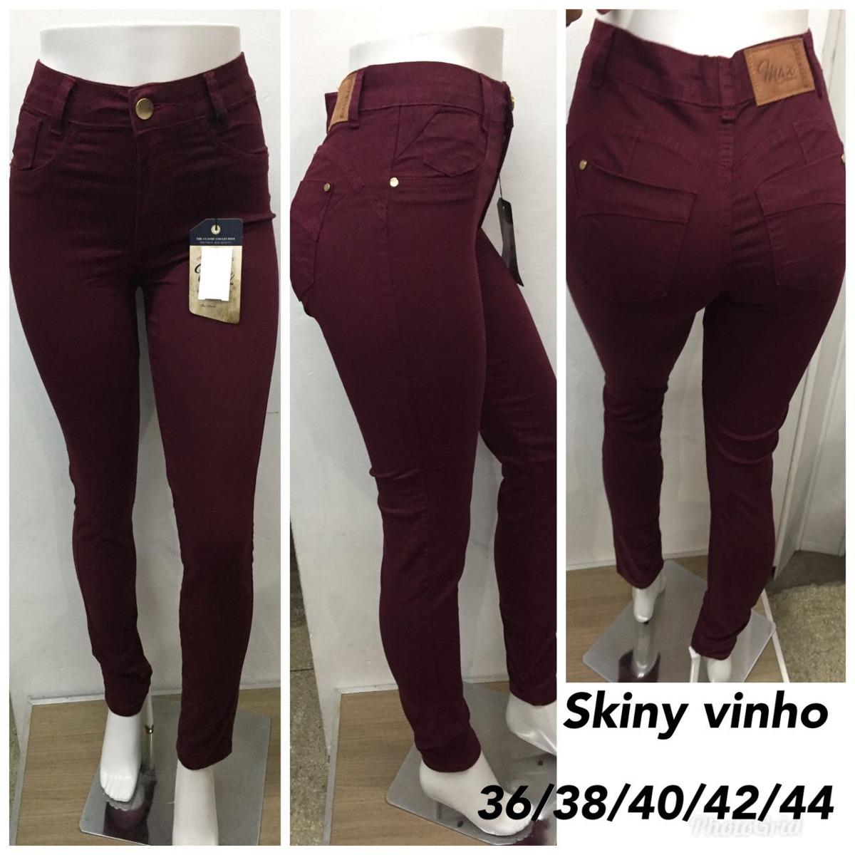ee6b6e4f3 Calça Jeans Feminina Skinny Ruiva Cintura Alta - R$ 39,00 em Mercado ...