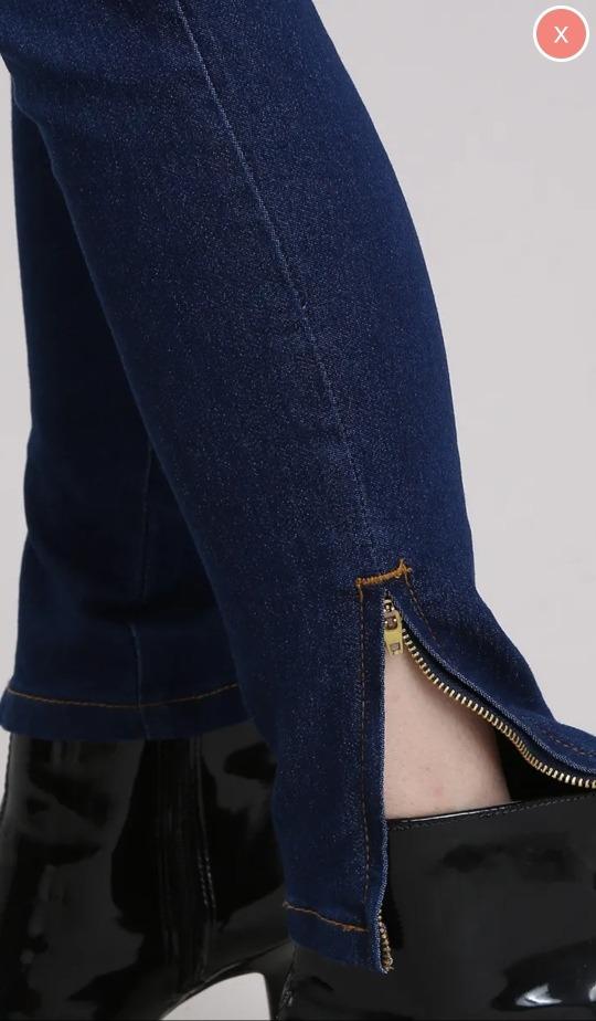 dfce59e1e calça jeans feminina skinny yessica azul escuro tam 42. Carregando zoom.