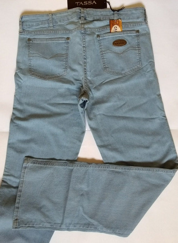 1ced4b72b Calça Jeans Feminina, Tassa, Cut Stretch Delavê, Tamanho 48 - R$ 129 ...