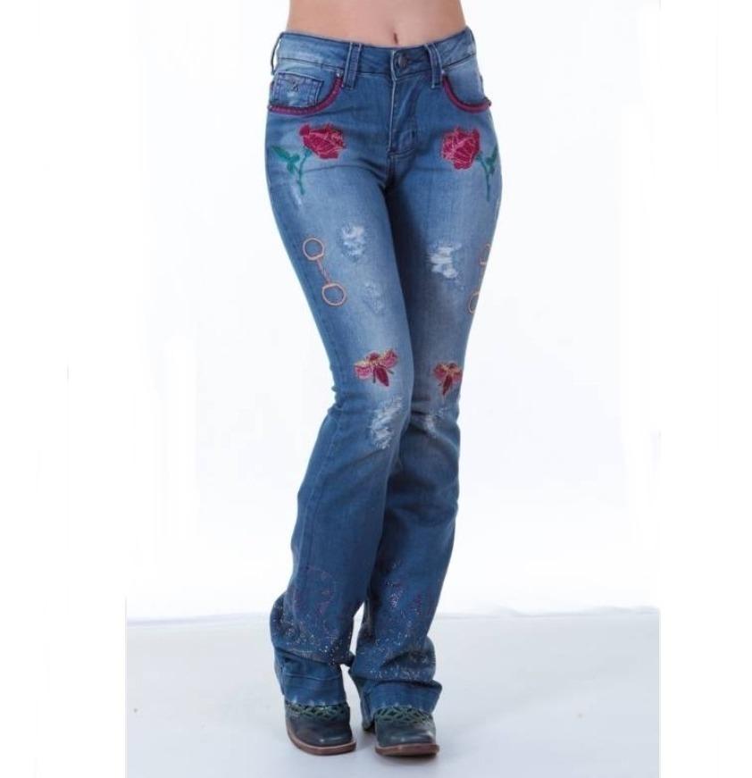 5fc66548a1f calça jeans feminina zenz western deep purple promoção. Carregando zoom.