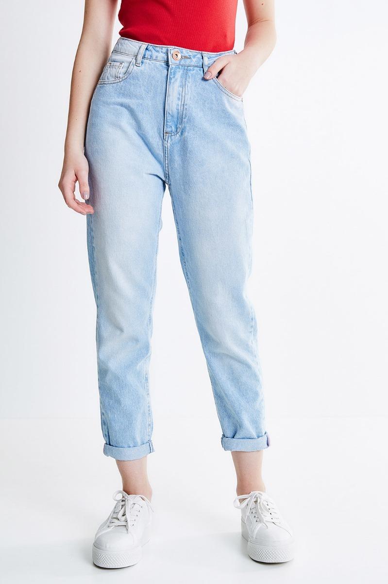 47e86a58e 2 calça mom jeans cintura alta destroyed moda feminino. Carregando zoom... calça  jeans feminino. Carregando zoom.